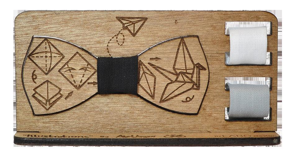Papillon in legno - moda legno